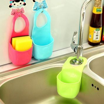 1PCS Kitchen Gadgets Multifunction Soap Dish Hanging Storage Box, Toothbrush Holder, Hanging Drain Bag Basket
