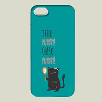 Catty Thoughts iPhone case by AnishaCreations on BoomBoomPrints