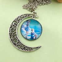 Amazing Colorful Moon Girls Women Pendant Necklace
