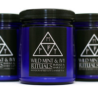Wild Mint and Ivy - Wooden Wick - Hedgewitch