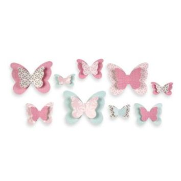 Wendy Bellissimo™ Mix & Match Butterfly Wall Décor in Pink