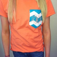 Argyle and Chevron Pocket Tshirts with Monogram