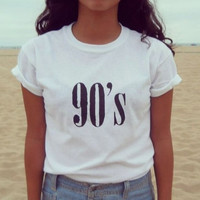 Fashion sexy 90's number T-shirt