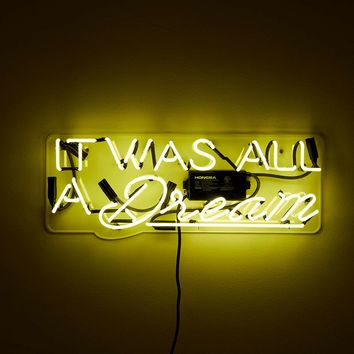 Oliver Gal Artist Co. It Was All a Dream Neon Sign