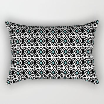 Modern Native & Turquoise Rectangular Pillow by Inspire Your Art