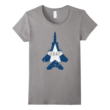 Military Aircraft Pilot Gifts T Shirt USAF Proud Soldier Tee