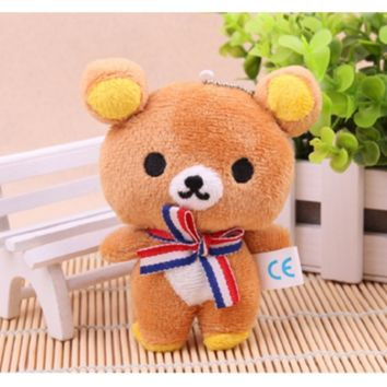 Lover Bear Plush Dolls Key Chain Bag Pendant Charm Toy Valentine's Day