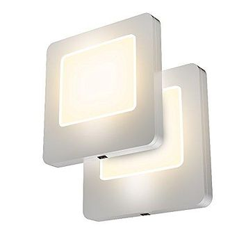 LED Pack of 2 Plug-In LED Night Lights – Ultra Slim, Cool-Touch Design