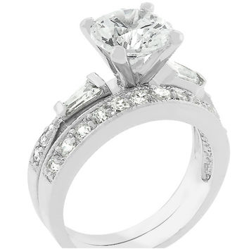 Nita Round Cut Solitaire Engagement Wedding Ring Set  a93bb2e071