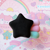 Pastel goth star comet ring