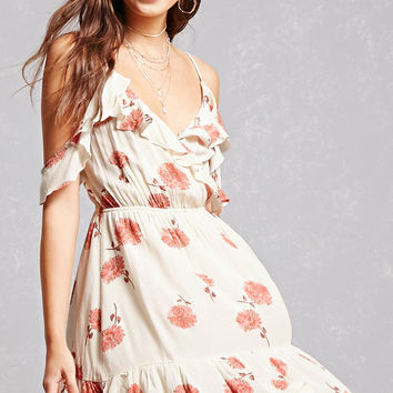 Ruffle Open-Shoulder Dress