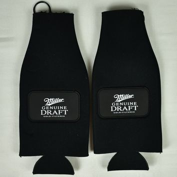Miller Genuine Draft Beer Bottle Koozies - Set of 2