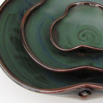Nesting Bowl Set Made to Order Dark Green by clearmountaincraft
