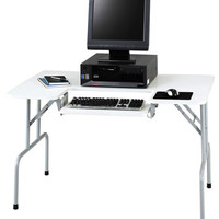 Safco Folding Computer Table with Steel Legs