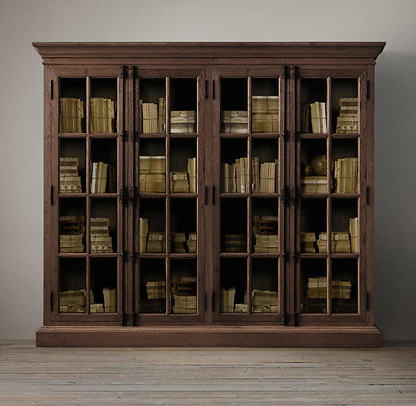 French casement wide glass cabinet from restoration hardware - Restoration hardware cabinets ...
