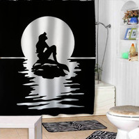 mermaid silhouette shower curtains adorabel bathroom and heppy shower.