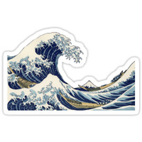 'Great Wave off Kanagawa' Sticker by manddyliu