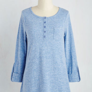 Athletic Long Long Sleeve All in Good Fundamental Top in Blue