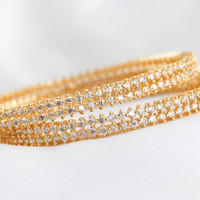 Bollywood CZ  Gold Plated Bangles