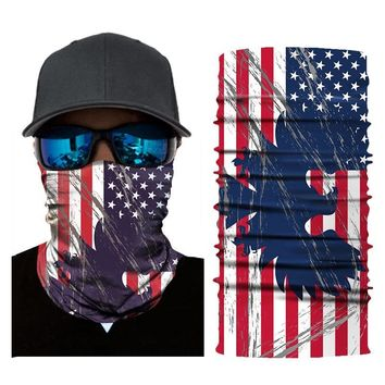 Bicycle 3D Flag Printed Headband Bike Head Scarf Bandana Scarves Neck Warmer Cycling Face Mask turban Mask for Outdoor Sports