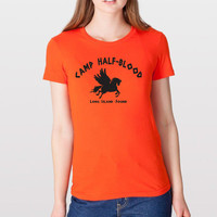 Camp Half-Blood Tee Halloween costume halfblood book story movie Percy Jackson girls new WOMENS ORANGE T-SHIRT