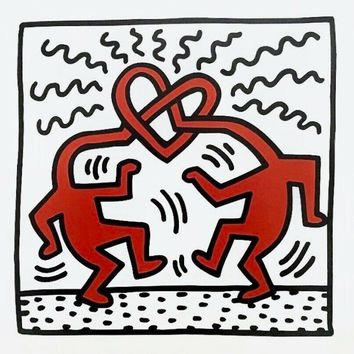 Untitled (1989), Offset Lithograph, Keith Haring