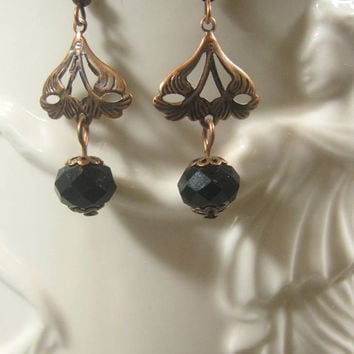 Downton Abbey Jewelry - Dangle Earrings - Edwardian Jewelry - 1920s Earrings - Art Deco Earrings - Titanic Jewelry - Lady Mary