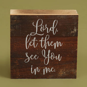 Altar'd State Let Them See Box Sign - Signs & Wall Art - Gifts/Home Decor