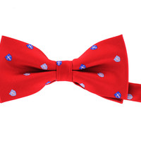 Tok Tok Designs Pre-Tied Bow Tie for Men & Teenagers (B313, Red)