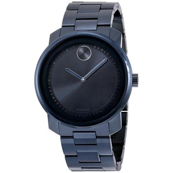 Movado Bold Black Dial Blue PVD Unisex Watch 3600296