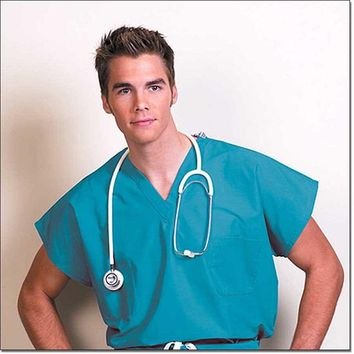 Fashion Seal Unisex Fashion Blend Cap Sleeve Scrub Shirt - Teal
