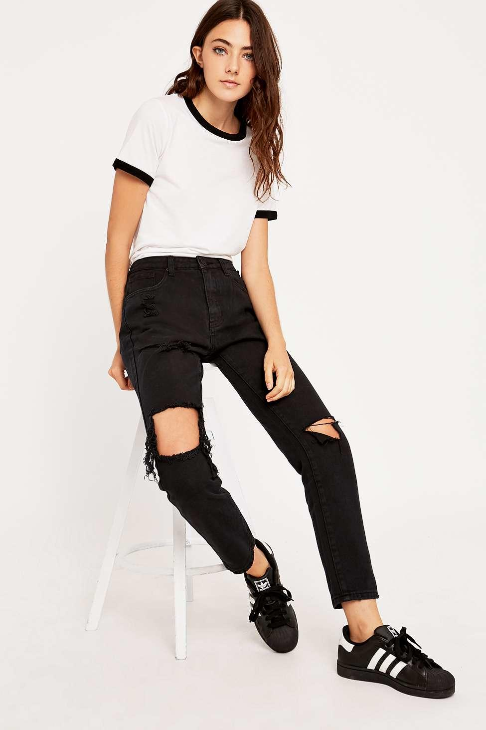 UNIF Romeo Black Jeans - Urban Outfitters from Urban Outfitters