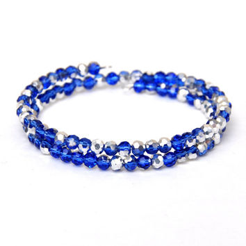 Blue Sparkle Wrap Bracelet