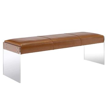 Envy Leather/Acrylic Bench