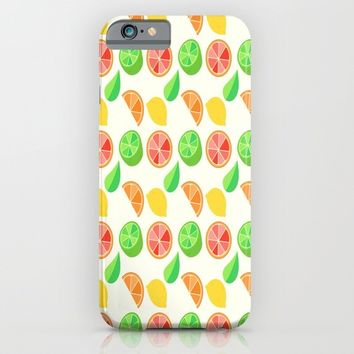 Citrus Pattern iPhone & iPod Case by Adorkible