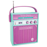 Sunnylife Retro Sounds Radio Turquoise One Size For Women 25311924101