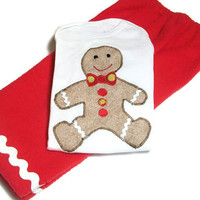 Gingerbread Man Shirt - Baby Holiday Wear - Christmas Outfit