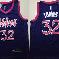 Minnesota Timberwolves 32 Karl-Anthony Towns Swingman Jersey - City Edition
