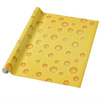 Swiss Cheese Cheezy Texture Pattern Wrapping Paper