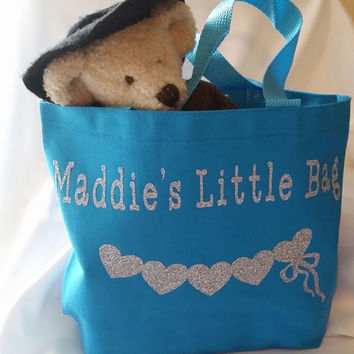 Personalized Tote Bag for Kids - Great for Overnight Stays, Car Trips, Daycare - Great Gift