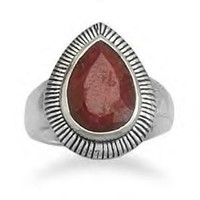 Pear Shape Ruby Ring