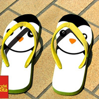 Flip Flops - Cute penguin