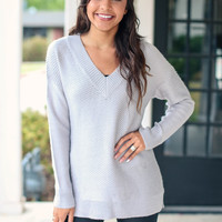 Sensation Sweater - Silver Grey