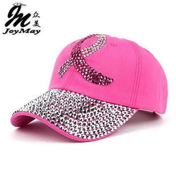 Chenier New Women's Pink Cap Supporting Breast Cancer