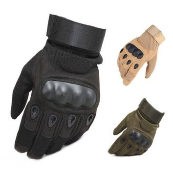 Tactical Hard Knuckle Full Finger Gloves Men's Outdoor Sports Camping Hiking Special Force Motorcycle Riding Climbing Working