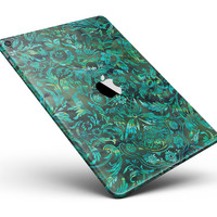 """Green Damask Watercolor Pattern Full Body Skin for the iPad Pro (12.9"""" or 9.7"""" available)"""