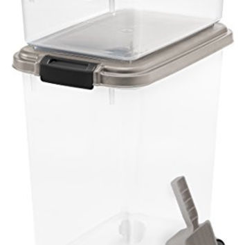 IRIS Airtight Pet Food Container Combo Kit, Chrome