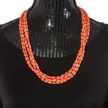 Vicki Orr 6 Strand Spiny Oyster and Heshi Bead Necklace