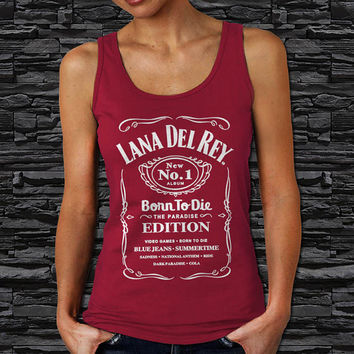 Lana Del Rey Funny Parody Jack Daniel Woman Tank Top (Color Available)