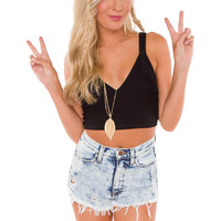 Bev Crop Top - Black